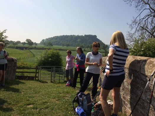 North Cheshire Nordic Walking Beeston Castle May 2017